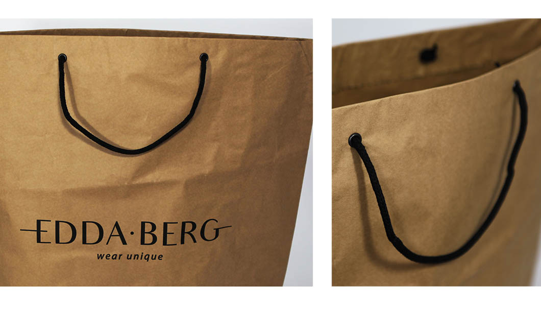 SHOPPING BAG EDDABERG - CARTA CEMENTO STAMPA OFF SET