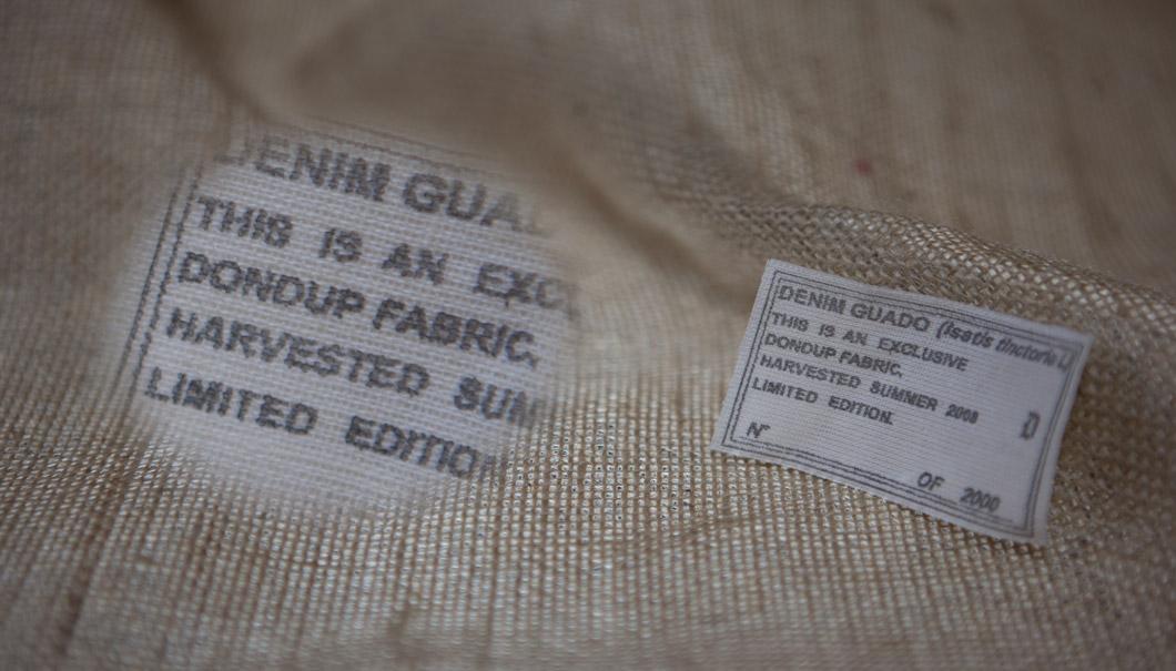 Etichetta stampata Denim Dondup 63x40mm