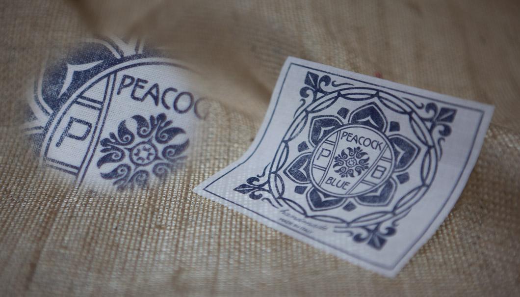 Etichetta stampata Peacock 95x85mm