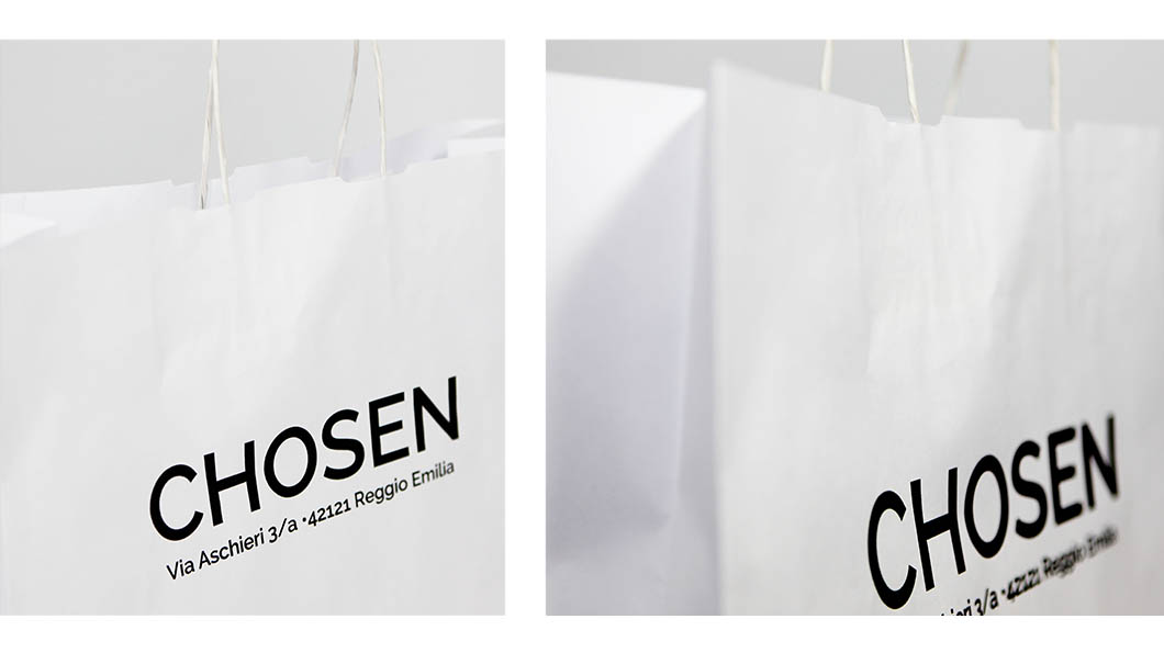 SHOPPING BAG CHOSEN KRAFT BIANCO - AUTOMATICHE STAMPA DIGITALE