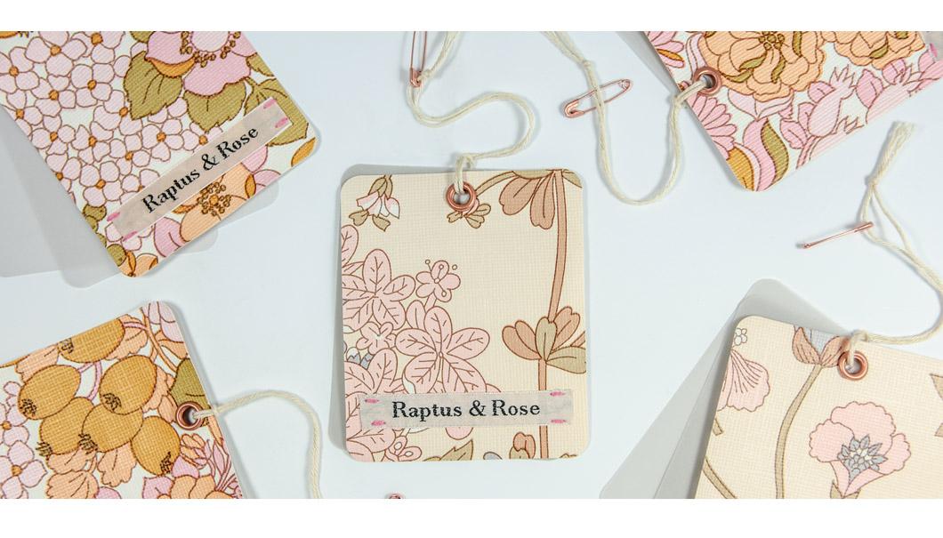 CARTELLINO SU WALLPAPER 'RAPTUS&ROSE'